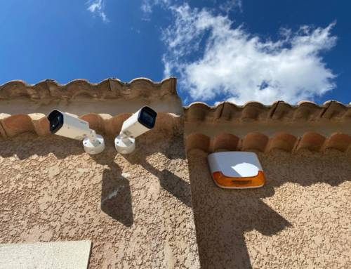 Réalisations : installation d'un système de vidéo surveillance pour un entrepôt à St Cannat